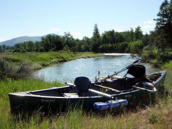 Boats awesome and fishing on pinterest for Fishing canoe setup