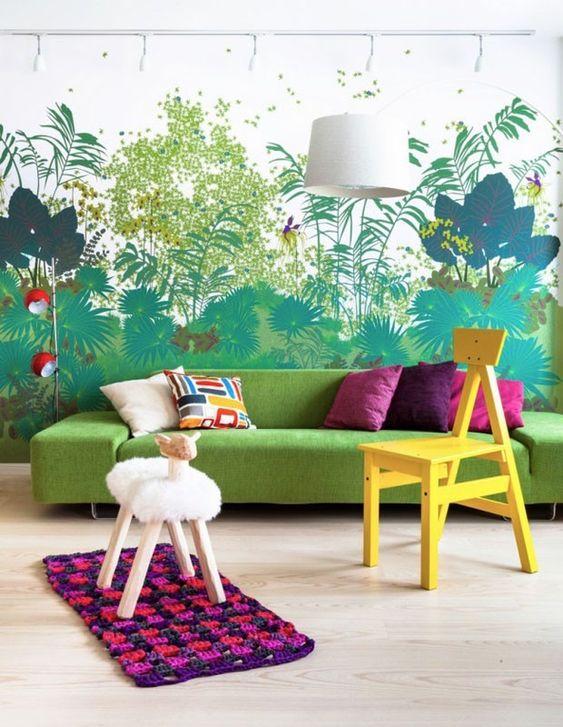 10 ambientes decorados com o verde Greenery, a cor de 2017 da Pantone (Foto: reprodução):