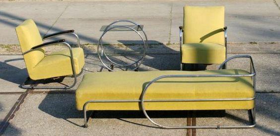 bauhaus marktplaats Museaal! Bauhaus sofa, fauteuils en tafel jaren '30/ '40