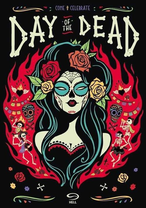 day of the dead - Skull Reaper psychedelic hippie  Art Poster Print Postcard ☮~ღ~*~*✿⊱  レ o √ 乇 !! ~
