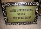 Funny plaque for the home.