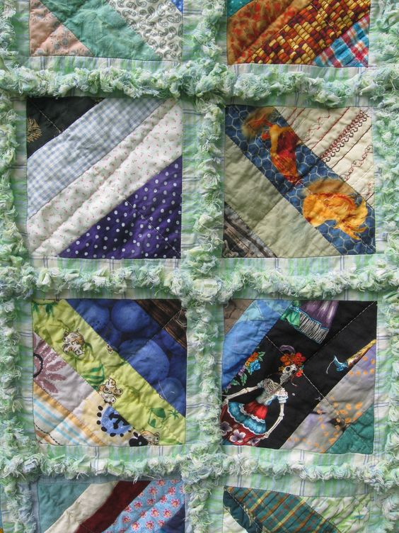Close-up of string rag #quilt  #ragquilt