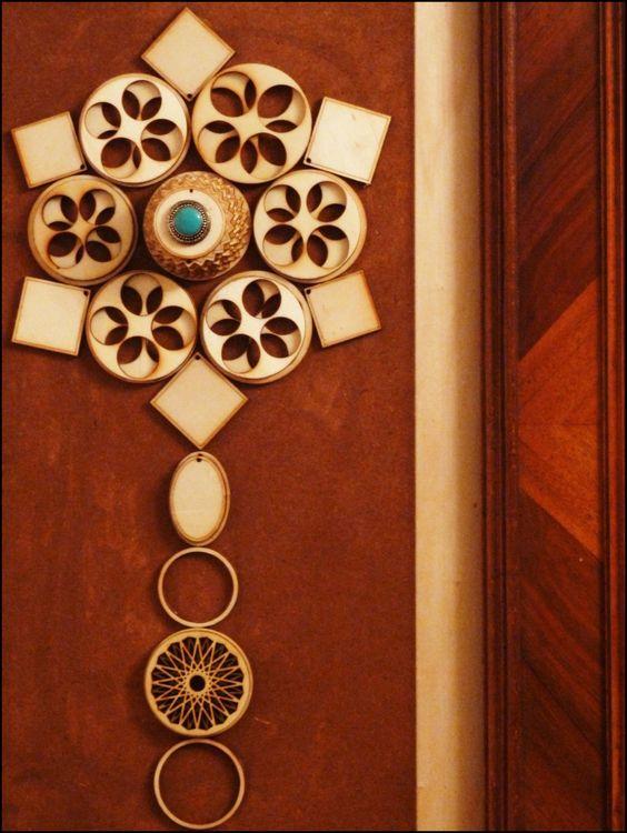 Geometrische Blume in Holz von IbnRoman auf Etsy