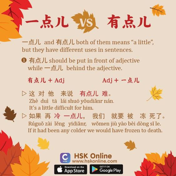 Difference between 一点儿 & 有点儿