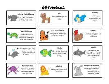 Worksheet Cbt Worksheets For Children children animals and cognitive distortions on pinterest cbt animalsstories worksheets to teach about distortions
