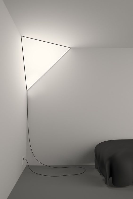 Corner light...so cool! but i would have to hide the ugly cord of course...:
