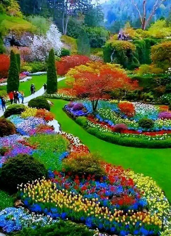 Parures Housses De Couette Floral Butchartgardens Japon Bahceleri Bahce Tasarim Fikirleri Tropik Bahce