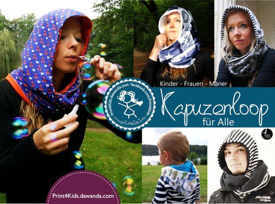 E-Book+Kapuzenloop+für+Kinder+-+Frauen+-+Männer+von+Print4kids+auf+DaWanda.com