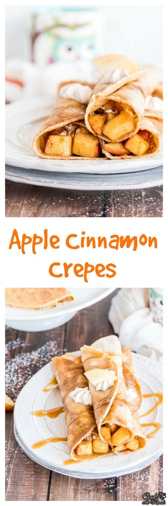 Apple Cinnamon Crepes | Recipe | Apple Cinnamon, Crepes and Cinnamon