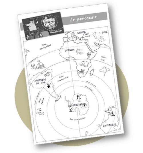 Le Vendée Globe - carte vierge simplifiée