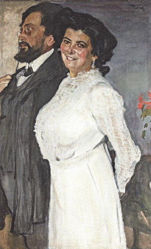 Портрет Оскара и Розы Грузенберг, 1910 год. Частное собрание