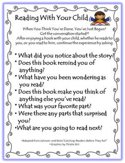 Reading with your child- parent support
