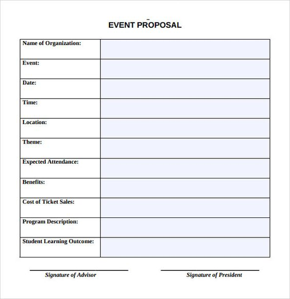 Event-Propsal-Template Event planning business Pinterest - event proposal template