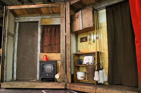 House interior - Fiddler on the Roof Set after painting by Ben Biddle, via Flick