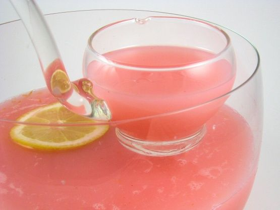 this makes a wonderful punch for a baby girls baby shower or a little