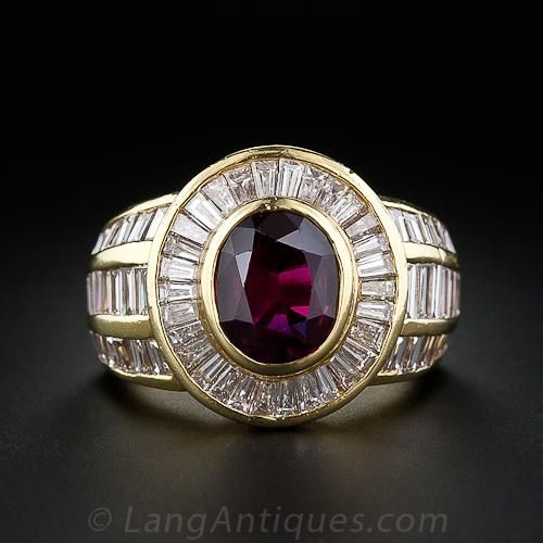 Estate Ruby and Diamond Ring - 30-2-813 - Lang Antiques