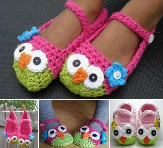 Crochet Owl Baby Booties Pattern : DIY Crochet Mary Jane Owl Slippers (Free Pattern), crochet ...
