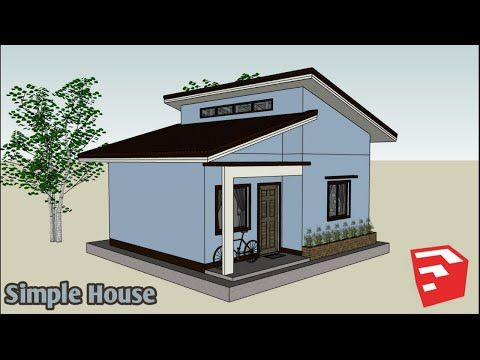 Small House Design Idea 2 Bedroom Sketchup Animation Youtube Kerala House Design Small House Design Simple House