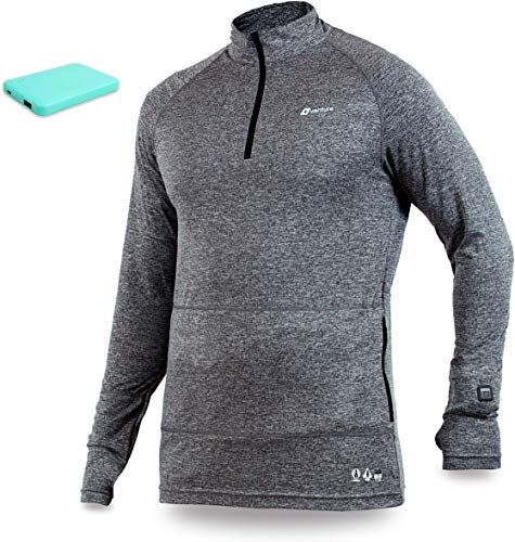 1//4 Zip Electric Base Layer Long John Nomad Venture Heat Mens Heated Shirt Thermal Underwear with Battery Pack