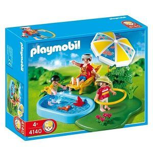 Compact set famille et pataugeoire marque playmobil for Piscine playmobil
