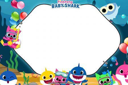 Free Printable Baby Shark Birthday Invitation Templates Free Printable Birthday I Shark Birthday Invitations Shark Themed Birthday Party Shark Theme Birthday