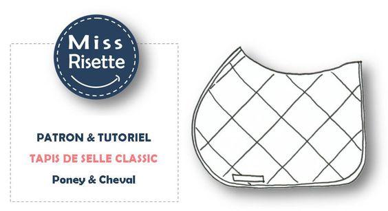 Patron de Couture - Tapis de Selle Equitation Classic : Animaux par missrisette-equi