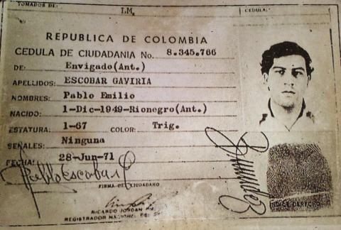 Pablo Escobar`s ID