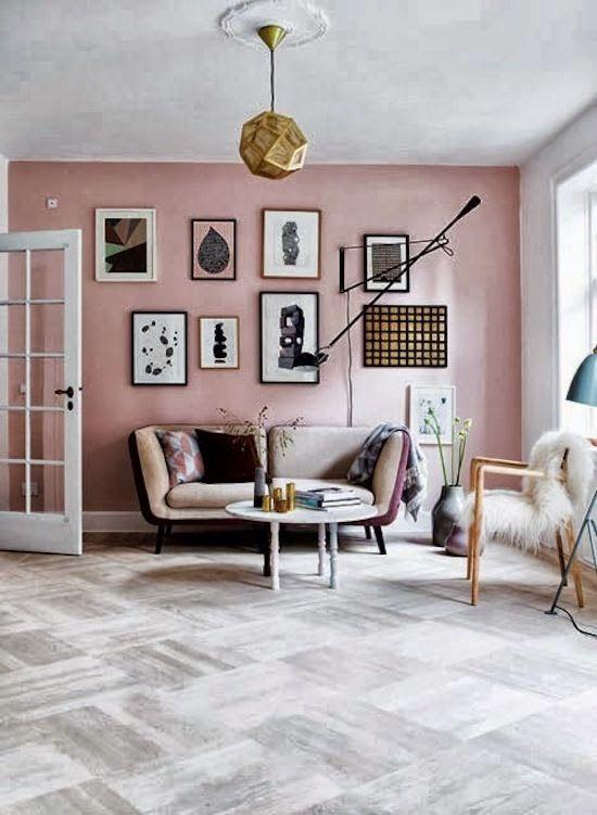 Le charme de la couleur vieux rose | Salon pastel, Chambre ...