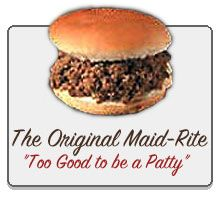 Muscatine (Iowa) Maid Rite.  I remember it was by the end of the bridge in Muscatine.  Ate there with relatives in the 50s.