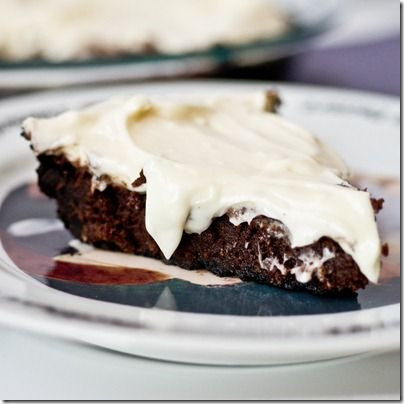 Oreo Crusted Brownie Pie w Cream Cheese Icing...OH MY