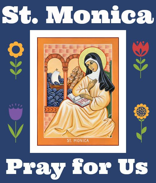 Saint Monica is the patron saint of married women, abuse victims, alcoholics, alcoholism, difficult marriages, disappointing children, homemakers, housewives, married women, mothers, victims of adultery, victims of unfaithfulness, victims of verbal abuse, widows, and wives.
