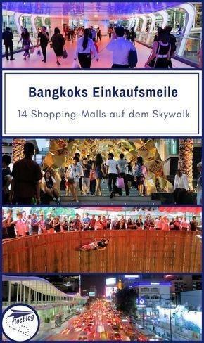 Bangkoks Shoppingmeile 16 Einkaufszentren Am Skywalk Karte