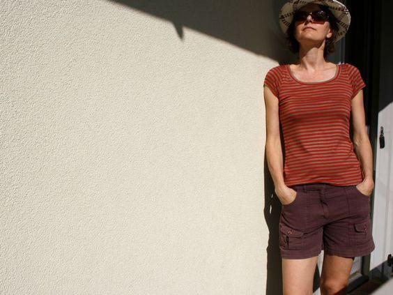 """T shirt basique issu du livre """"mes indispensables en maille"""" par La cabane d'elilou"""