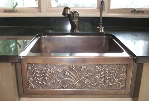 24 Chameleon Bronze Farm Sink Mini Farmhouse Sink Farm Sink Sink