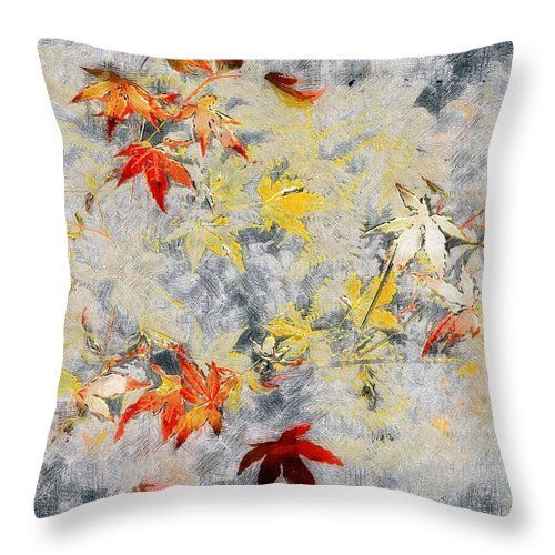 """Decorate for autumn with a """"Fragments of Fall"""" throw pillow, available in a variety of sizes. ~ © 2011 RC deWinter"""