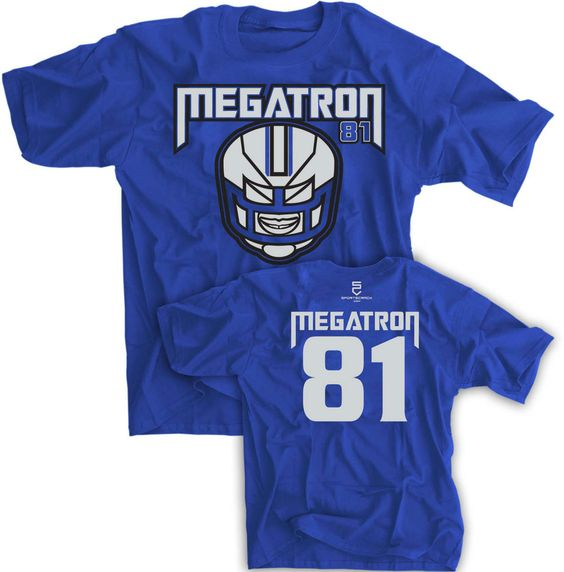 Calvin Johnson Megatron Jersey T Shirt Detroit Lions Funny Madden Small-3XL NEW