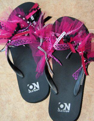 Decorate flip flops flip flops and girls night on pinterest for Flip flops for crafts