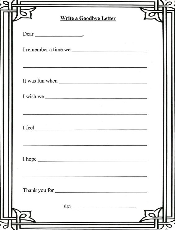 Printables Grief And Loss Worksheets grief and loss worksheets writing a letter to the person who has passed is a