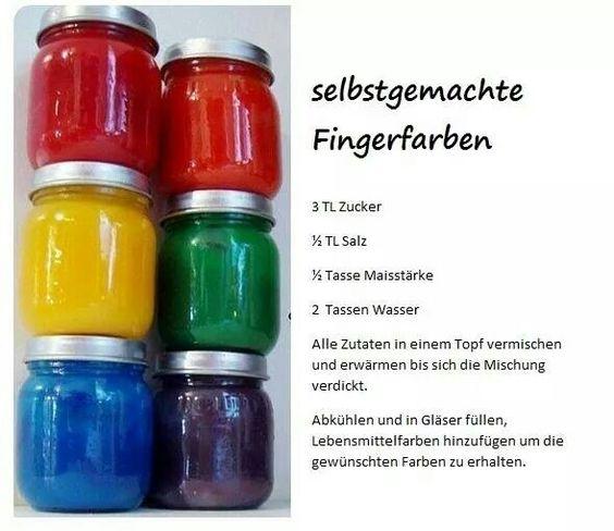 Fingerfarben selbst gemacht kinder pinterest - Fingerfarben ideen ...