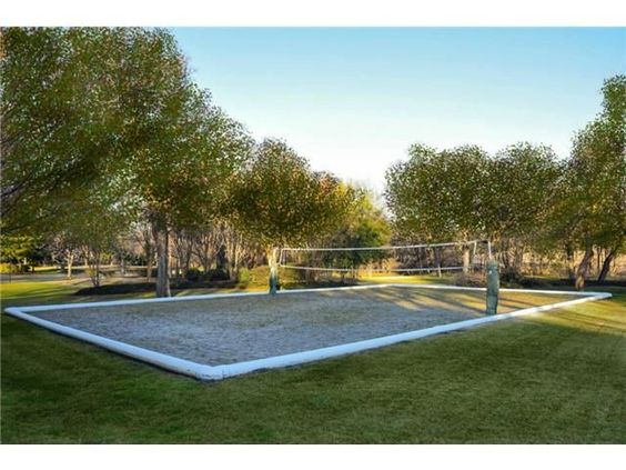 Backyard Sand Volleyball Court : lot with a sand volleyball court Sand castles, zen garden, volleyball