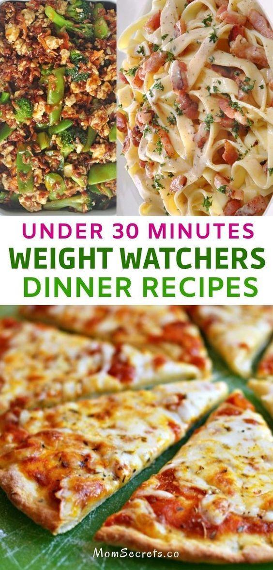 Best Weight Watchers Dinner Recipes - Under 30 minutes