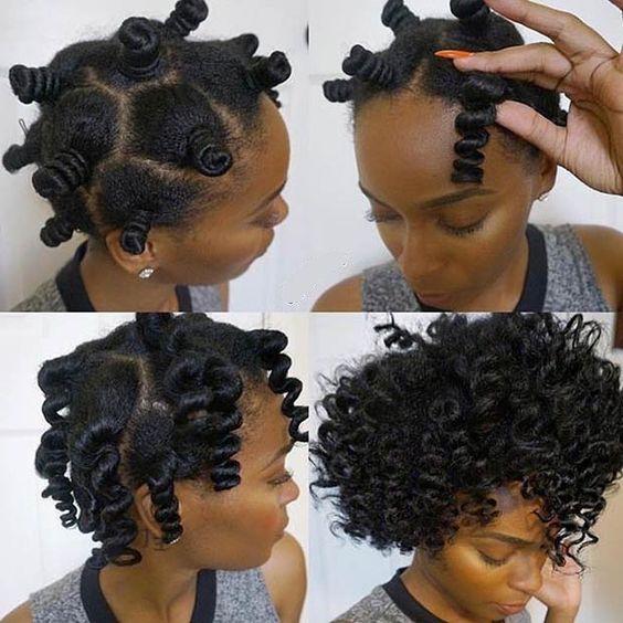 How To Restore Natural Curl Pattern To Heat Damaged Hair Haar Styling Naturliche Frisuren Frisur Knoten