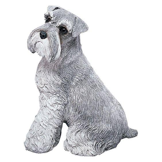 Have to have it. Sandicast Original Size Gray Schnauzer Sculpture $74.99
