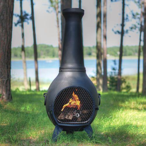 Prairie Chiminea Cast Aluminum Outdoor Fireplace Chiminea Fire Pit Clay Fire Pit Outdoor Fire Pit