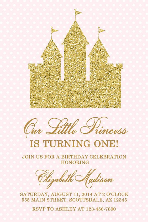 Princess Castle Birthday Party Invitation Castle by Honeyprint