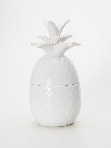 Pote de Ceramica Abacaxi Branco | Collector55 - Loja de Decoração Online - Collector55