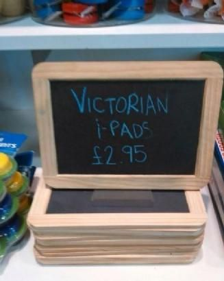 How to sell a chalkboard.