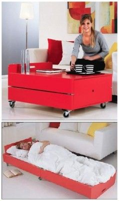 The Homestead Survival | Build A Folding Coffee Table That Converts To A Bed | http://thehomesteadsurvival.com