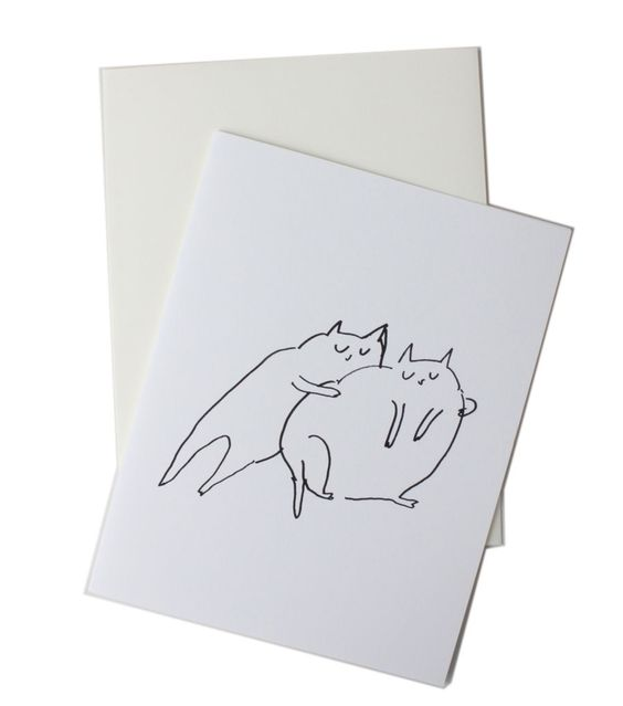 Catbird::shop by category::CARDS & STATIONERY::Main Squeeze Chubby Cat Card