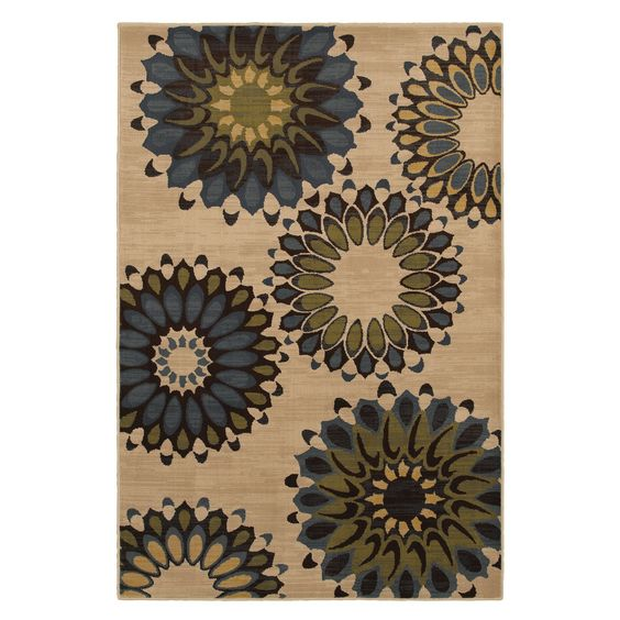 Hippie Chic Blue Rug (5'3 x 7'10) | Overstock.com Shopping - Great Deals on 5x8 - 6x9 Rugs